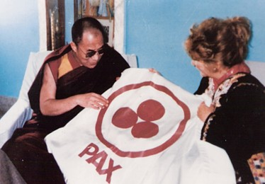 Remembering the Presentation of the Banner of Peace to the Dalai Lama in Dharamsala, India